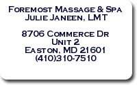 Foremost Massage